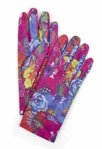 Susannagh Grogan - Printed Floral Leather Gloves - m
