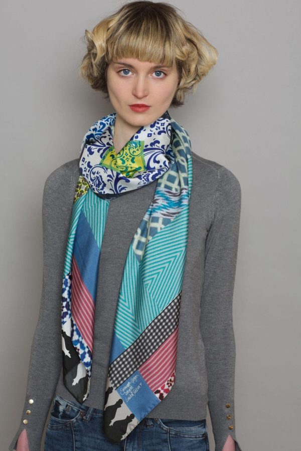 Printed Silk Scarf By Susannagh Grogan