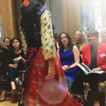 scarf, silk dress, silk tunics, susannagh grogan, arthur cox, print designer fashion show