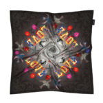 Susannagh Grogan LOVE Print Silk Scarf