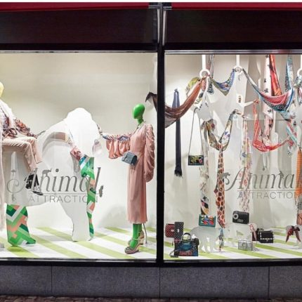 Susannagh Grogan Scarves Brown Thomas Dublin Window Display SS18