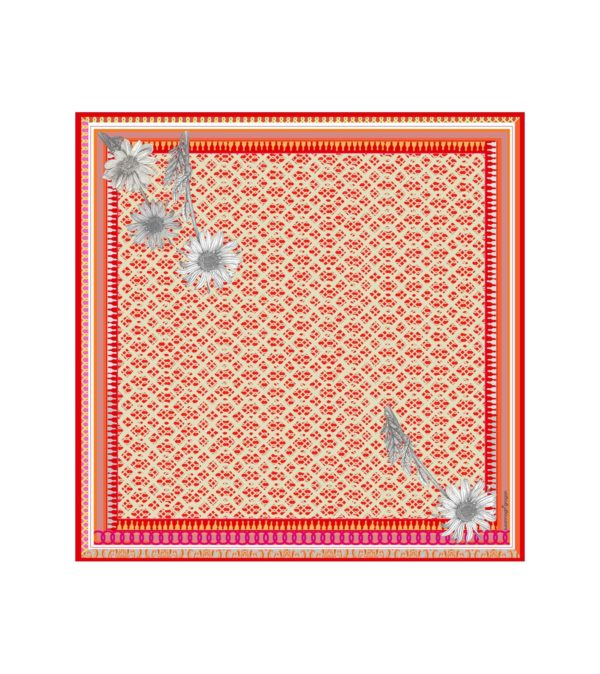 Susannagh Grogan Scarves 'Picnic Red' Medium Silk Square