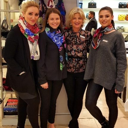 Brown Thomas Susannagh Grogan Scarves Galway Accessories and Womenswear Staff