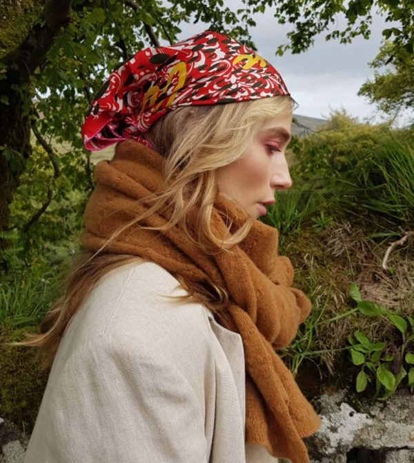 Susannagh Grogan Scarves | Duine Ar Leith or Boundless silk scarf