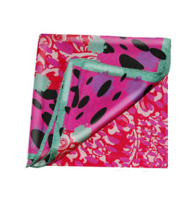 Pink Red Silk Scarf Susannagh Grogan