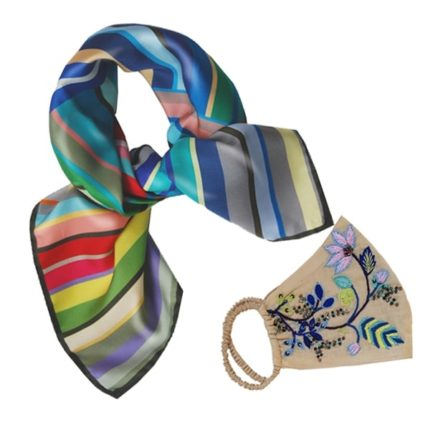 Gift Set Stripe Scarf + Mask
