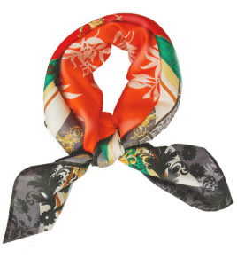 Orange Baroque Susannagh Grogan Classic Silk scarf
