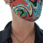 Susannagh Grogan Red swirl Stripe Mask