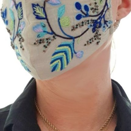 Susannagh Grogan floral embroidery face mask