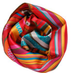 Red Swirl small silk scarf Susannagh Grogan Scarves