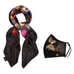Gift Set Love Scarf + Gold Mask