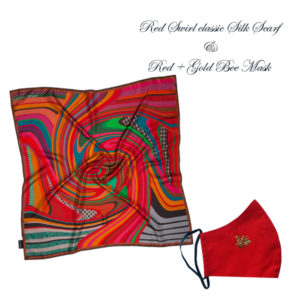 Gift Set Red Scarf + Mask