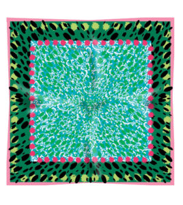 Green Emerald Pink Scarf Susannagh Grogan
