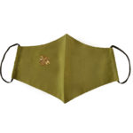 Irish Designer khaki green Bee facemask Susannagh Grogan