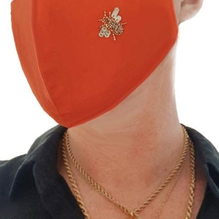 Irish Designer orange Bee facemask Susannagh Grogan