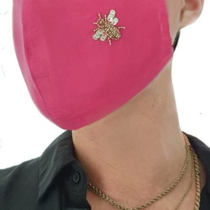 Irish Designer Pink Bee facemask Susannagh Grogan